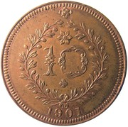 10 Réis - Carlos I – reverse