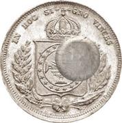 300 Réis (Countermarked issue over 200 Réis - Pedro II; Brasil Imp.) – reverse