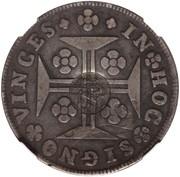 600 Réis (Countermarked over 1 Cruzado - Portugal) – obverse