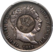 120 Réis - Luis I (Countermarked over 1 Shilling - United Kingdom) – obverse