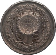 120 Réis - Luis I (Countermarked over 1 Shilling - United Kingdom) – reverse