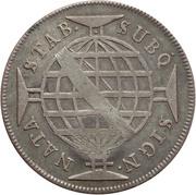 "600 Réis (Countermarked issue over ""640 Réis; Brazil"") – reverse"
