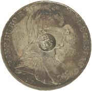 "1200 Réis - Luis I (Crown ""G.P"" countermarked over 1 Thaler - Maria Theresa; Austria) – obverse"
