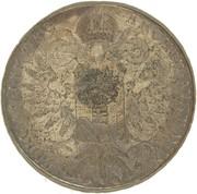 "1200 Réis - Luis I (Crown ""G.P"" countermarked over 1 Thaler - Maria Theresa; Austria) – reverse"