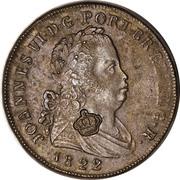 120 Réis - Luis I (Countermarked over Pataco - João VI; Portugal) – obverse
