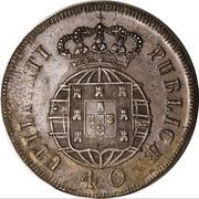 120 Réis - Luis I (Countermarked over Pataco - João VI; Portugal) – reverse