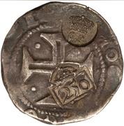 300 Réis (Countermark over ½ Cruzado - João IV; Portugal) – obverse