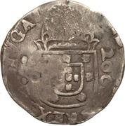 300 Réis (Countermark over ½ Cruzado - João IV; Portugal) – reverse