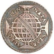 "200 Réis - Luis I (Countermark issue over ""160 Réis - Maria I & Pedro III; Brazil"") – reverse"