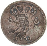 "600 Réis (Countermarked issue over ""600 Réis ""J"" - José I; Brazil) – reverse"