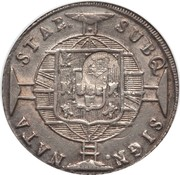 "1200 Réis - Luis I (Countermarked issue over ""960 Réis - João VI; Brazil"") – obverse"