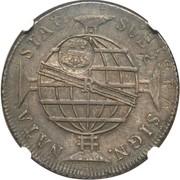 "1200 Réis - Luis I (Countermarked issue over ""960 Réis - João Regent; Brazil"") – obverse"