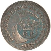 60 Réis - Luis I (Countermarked issue over