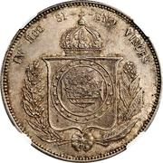 "1200 Réis - Luis I (Countermarked issue over ""2000 Réis - Pedro II; Brazil"") – reverse"