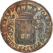 1200 Réis - Luis I (Countermarked over 960 Réis - Brazil Colony) – obverse