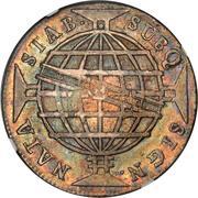 1200 Réis - Luis I (Countermarked over 960 Réis - Brazil Colony) – reverse