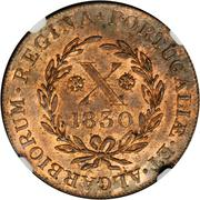10 Réis - Maria II (London mint) – reverse