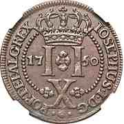 10 Réis - José I – reverse
