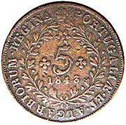 5 Réis - Maria II – reverse