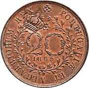 40 Réis - Luiz I (Countermarked over 20 Réis - Açores) – obverse