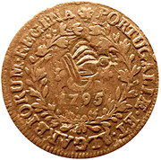 10 Réis - Luiz I (Countarmarked over 5 Réis/ Maria I/Azores) – obverse