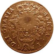 10 Réis - Luiz I (Countarmarked over 5 Réis/ Maria I/Azores) – reverse