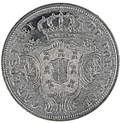 5 Réis - Carlos I (Pattern) – obverse