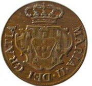 5 Réis -  Maria II (London mint) – obverse