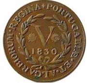 5 Réis -  Maria II (London mint) – reverse