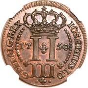 3 Réis - José I – reverse