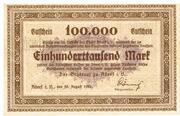 100,000 Mark – obverse