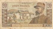 20 Francs (Gentil) – obverse