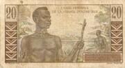 20 Francs (Gentil) – reverse