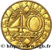 40 Francs (Pattern) – obverse