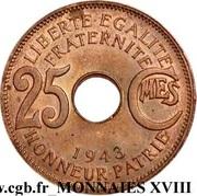 25 Centimes -  reverse
