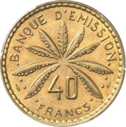 40 Francs (Pattern) – reverse