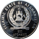 500 Afghanis (XXVII Olympiad) – obverse
