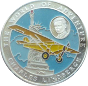 500 Afghanis (Charles Lindbergh) – obverse