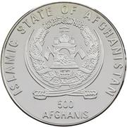 500 Afghanis (XXVII Summer Olympic Games, Sydney 2000) – obverse