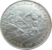 500 Afghanis (XV World Cup USA 1994) -  reverse