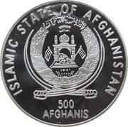 500 Afghanis (Snow Leopard) – obverse