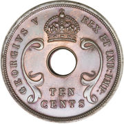 10 Cents - George V -  obverse