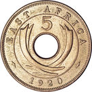 5 Cents - George V – reverse