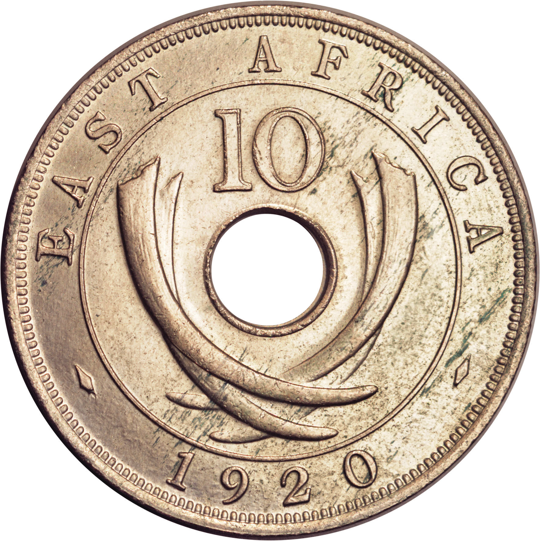 10 Cents George V East Africa Numista