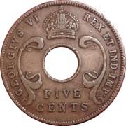 5 Cents - George VI -  obverse