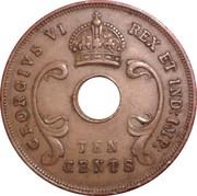 10 Cents - George VI -  obverse