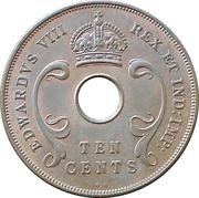 10 Cents - Edward VIII – obverse