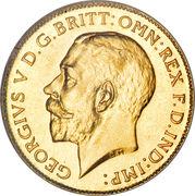 ½ Sovereign - George V – obverse