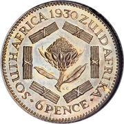 6 Pence - George V (ZUID-AFRIKA 6 PENCE) – reverse