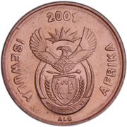 1 Cent (Ndebele Legend - ISEWULA AFRIKA) – obverse